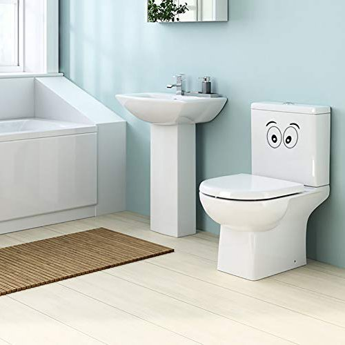 Funny Animation Eyes Toilet Seat Bathroom Decorative Vinyl Wall Decal Stickers for Kids from Daisy Crafts