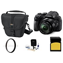 Adorama Panasonic Lumix DMC-FZ300 12.1MP Digital Camera 24x Zoom - Bundle with Camera Case, 16GB SDHC Card, 52mm UV Filter, Cleaning Kit