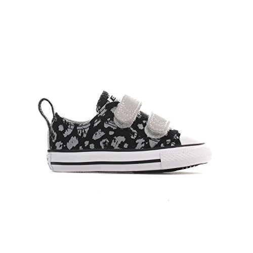 Converse Girls' Chuck Taylor All Star 2V (Infant/Toddler - Black/Mouse/White - 6