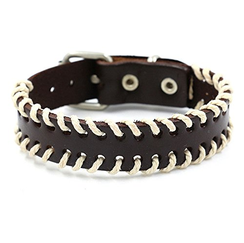 SUNSIN Leather Bracelet Woven Rope Adjustable Cuff Bangle for Men Women