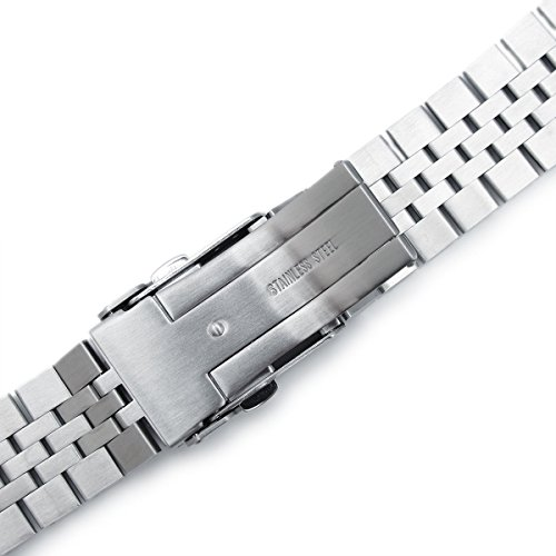 Super 3D Jubilee Replacement Bracelet for Seiko SKX007 22mm 316L-SS Watch Band