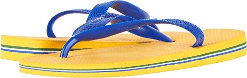 Havaianas Women's Flip Flop Sandals, Brazil Logo, Banana Yellow 37/38 BR (7/8 M US),37/38 BR (7-8 M US)