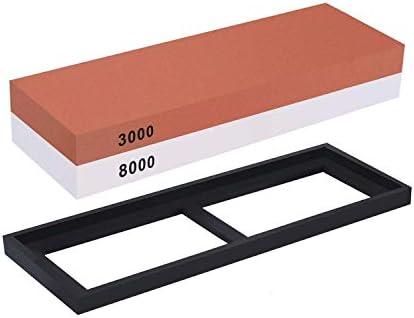 2イン1砥石3000/8000 ノンスリップベースの高度なシェフツールを含むグリットの組み合わせ
