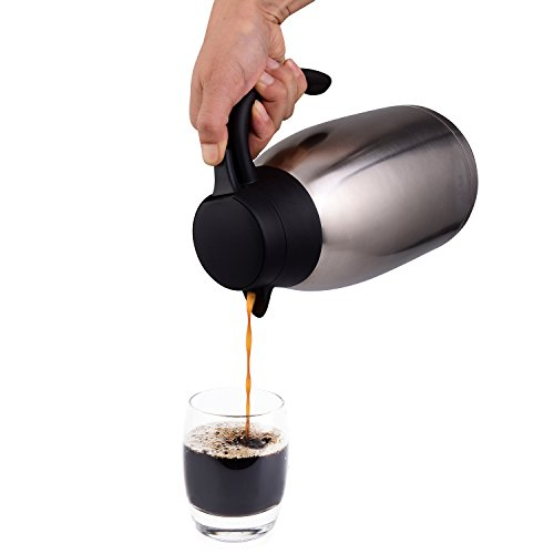 68 Oz Stainless Steel Thermal Coffee Carafe/Double Walled Vacuum Thermos / 12 Hour Heat Retention / 2 Litre by Cresimo by Cresimo (Image #2)