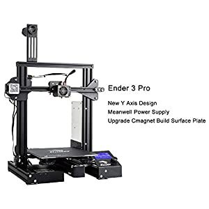 """Comgrow Creality Ender 3 Pro 3D Printer with Upgrade Cmagnet Build Surface Plate and UL Certified Power Supply 8.6"""" x 8.6"""" x 9.8"""" from Creality 3D"""