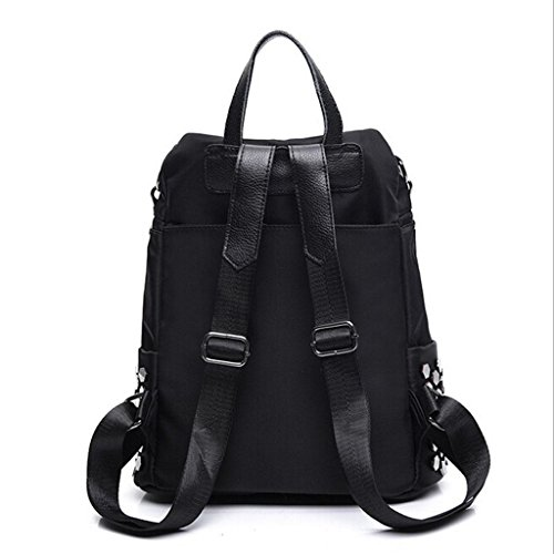 Bags PU backpack Rivet High amp;YF Z black Black Student backpack Shoulder bag capacity shoulder Ms traveling nv0nWR