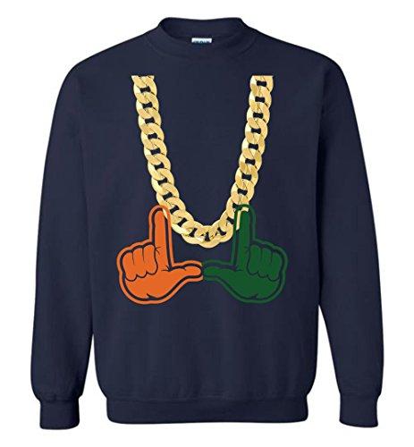 Miami Florida Turnover Chain U Hands Crewneck Sweatshirt