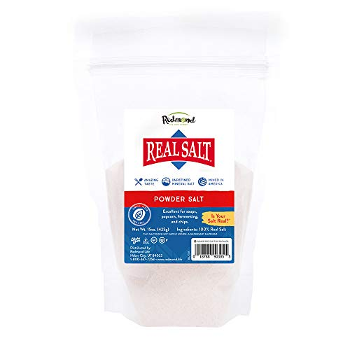 Redmond Real Salt - Ancient Unrefined Mineral Powdered Sea Salt Pouch for Cooking, Baking, Canning, Baths, Neti Pots, and Other Medical Uses ()