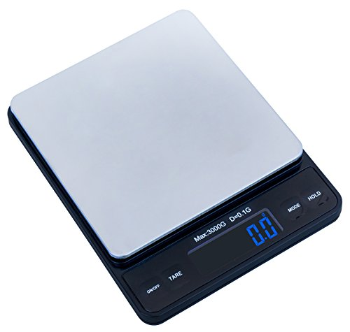 Weighmax-Duo-Series-W-7800-High-Precision-01g001oz-3000g-Digital-Pro-Pocket-Scale-serving-as-kitchen-scale-and-postal-scale