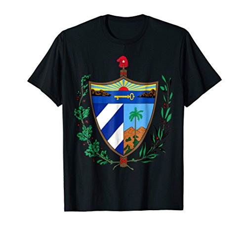 Mens Cuban Coat Of Arms Cuba Emblem Symbol T-Shirt Medium Black