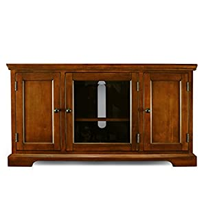 Leick Riley Holliday Westwood Corner TV Stand with Storage, 46-Inch, Brown Cherry