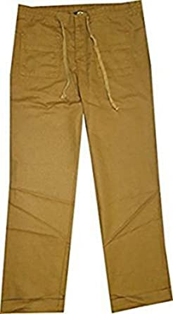 ab101112f Eddie Bauer Linen Trousers Ladies by Brown, 34 (4): Amazon.co.uk: Clothing