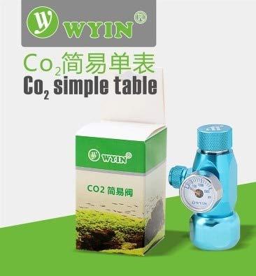 WYIN Aquarium Plant CO2 Simple Gauge Needle Valve Pressure Regulator JIS M22-14, W21.8   without bubble count, without diffuser