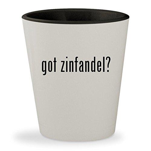 Barefoot White Zinfandel - got zinfandel? - White Outer & Black Inner Ceramic 1.5oz Shot Glass
