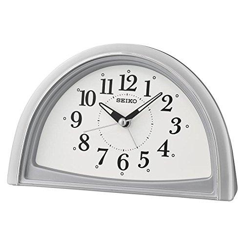 Seiko Analogue Beep Alarm Clock, Silver, 11.8 x 8.5 x 18.5 c