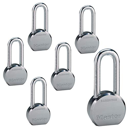 Master Lock - (6) High Security Pro Series Keyed Alike Padlocks 6230NKALH-6 w/BumpStop Technology