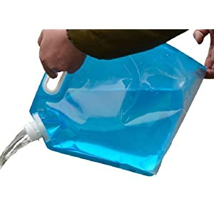 Lifeunion 5 Litres Collapsible Water Container, BPA Free Plastic Water Carrier, Outdoor Folding Water Bag for Sport Camping Riding Mountaineer