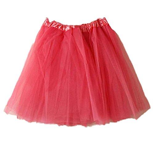 BZLine? Ballet Tutu Femme Jupon Court Style en Tulle Taille Unique Multicouleur Rouge Pastque