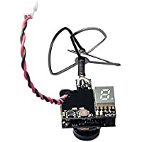 Wolfwhoop WT02 600TVL Ultra Micro AIO Camera and 200mW 5.8GHz 40CH Video Transmitter with Clover Antenna for FPV Indoor Racing