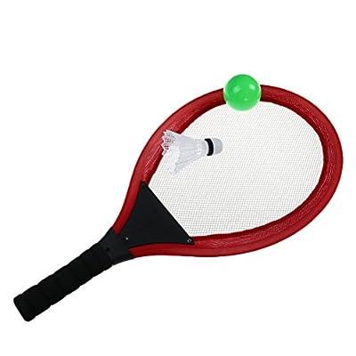 Eshylala Soft Tennis Rackets Set, Kids Soft Tennis Set Outdoor Garden Game Children Toy Soft Tennis and Badminton Set + Ocean Ball, Badminton (Blue,RED,Orange): Toys & Games