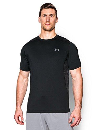 Under Armour Men's Raid Short Sleeve T-Shirt, Black/Steel, XX-Large