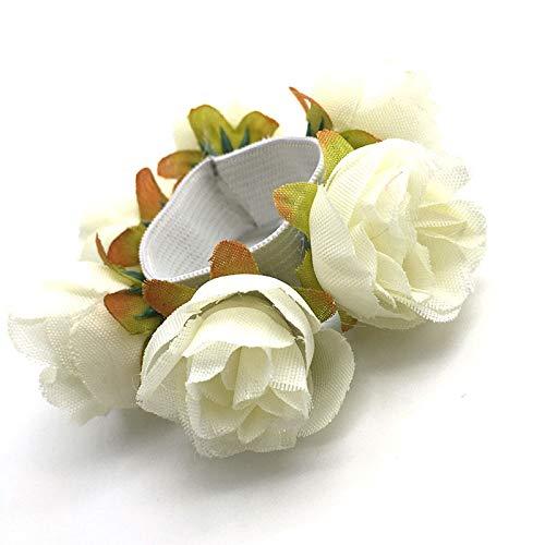 MOPOLIS Fashion Women Girl Rose Flower Hair Band Rope Elastic Ponytail Holder Scrunchie` | Colour - White
