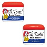 cortisone cream acne - (Set of 2) Ok Toots Cortisone-Free Eraser Cream For Multiple Rashes 4-oz Jar