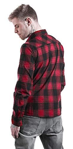 blu Brandit Checkshirt Camicia Verde Nero Red tqBvYBrx