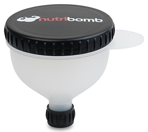 Nutribomb Medium Fill N Go - Protein Funnel - Supplement Funnel - Water Bottle Funnel - Travel Container For Gym Or Work (4) by Nutribomb (Image #2)