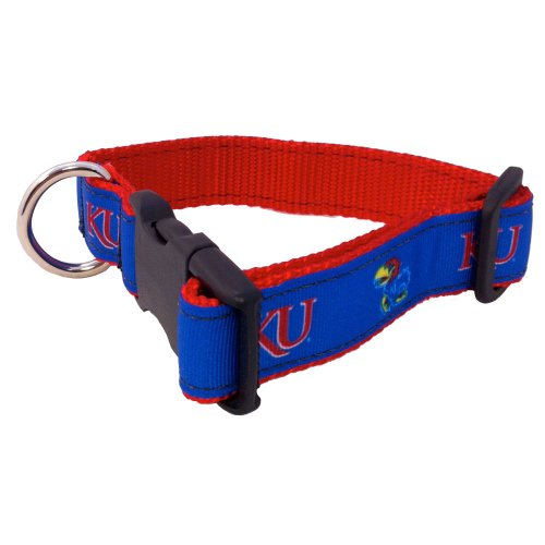 NCAA Kansas Jayhawks Dog Collar, Team Color, Large ()