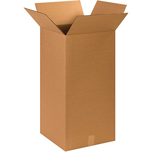 "Partners Brand P151530MS Tall Moving Boxes, 15"" Length x 15"" Width x 30"" Height, Kraft (Pack of 15)"