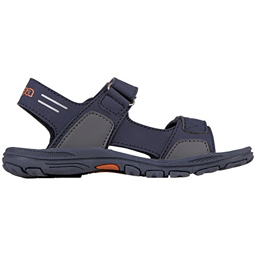 Kappa Unisex-Kinder Pure Kids Riemchensandalen Blau (6744 Navy/Orange)