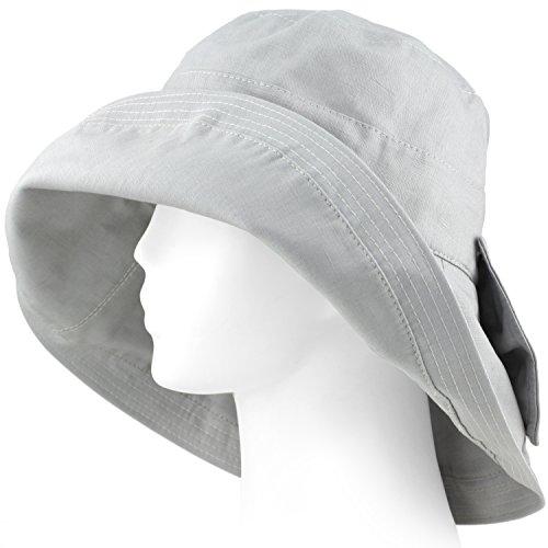 Packable Summer Beach Sun Hat - Soft Adjustable Wide Brim - Cloud - City Panama Beach Clothing Stores