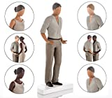 Wedding Cake Toppers - Bride and Groom Figurines. Mix and Match - Suitable for Straight, Gay, Lesbian, Caucasian, Interracial and African American Couples. Mid Skin Tone Male