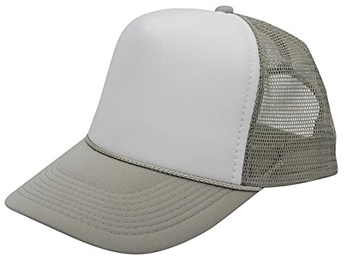 Quality Merchandise QML Trucker Cap Mesh Hat with Solid, Two Tone Colors and Adjustable Snapback Strap and Small Braid (2 Tone, -