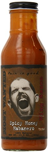 Pain Is Good Screaming Wing Sauce, Spicy Honey Habanero, 13.5 Ounce