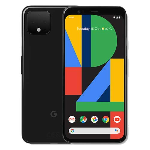 Google Pixel 4 G020M 64GB 5.7 inch Android (GSM Only, No CDMA) Factory Unlocked 4G/LTE Smartphone - International Version (Just Black)