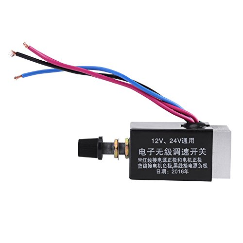 DC Motor Speed Controller Universal DC 12V/24V Speed Controller Switch For Car Truck Motor Driver Heater Control by Hilitand