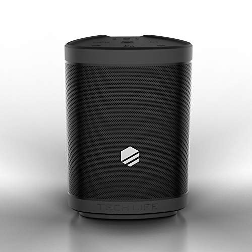 35w Speaker - Tech-Life Boss Portable Bluetooth Speaker- Heavy Bass, 35 Watts, Premium Outdoor Party Speker W/Speakerphone, Siri and Google Assitant - Multi-Link 100 Speakers, 300 ft Wireless Range, IPX5
