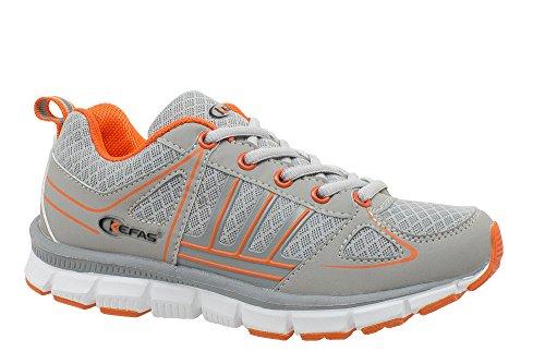 Kefas Men's Hiking Shoes Grigio/Arancione akte6