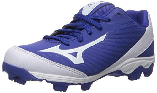 Mizuno (MIZD9 Baseball Cleat Shoe, Royal/White, 2.5 Youth US Little Kid