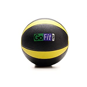 GoFit GF-MB10 10-pound Medicine Ball with Training Manual
