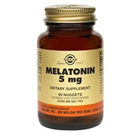 Amazon.com: Melatonin, 5 mg, 60 Nuggets by Solgar (Pack of 1): Health & Personal Care