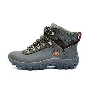 KINGSHOW Men's Water Resistance Rubber Sole Work Boots (9, 1551Brown)