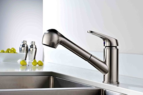 Apogee by Lenova Sinks - Top lever pull out spray/stream faucet with ceramic cartridge in polished chrome - 8 Pack by Apogee by Lenova Sinks