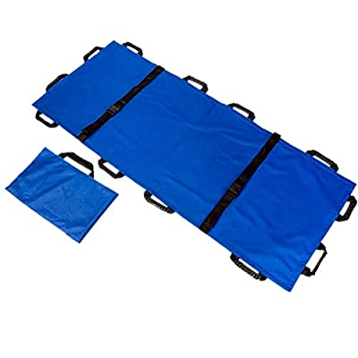 Nurth Oxford Soft Stretcher with 12 Handles Waterproof Foldable/Emergency Rescue Back Stretcher with Bags/Rescue Litter/Patient Transfer System/Portable Transport Unit, Ambulance Capacity 350 lbs