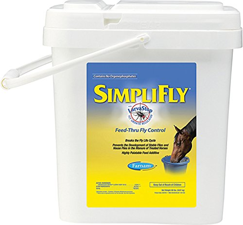 Equicare Simplifly with Larvastop, 20 Pound (Best Feed Through Fly Control For Horses)