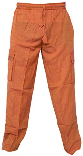 Gheri Light Cotton Loose Elastic Waist Summer Pocket Casual Lounge Wear Trousers Pant