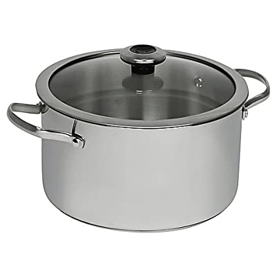 Revere Copper Confidence Core 6.5 qt. Stainless Steel Covered Stock Pot l Suitable for Use on All Stove Types