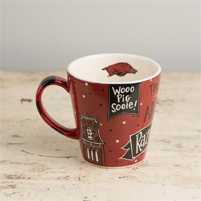 Collegiate Spirt Coffee Mug (12OZ) (Arkansas)